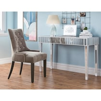 kayla silver dining chair