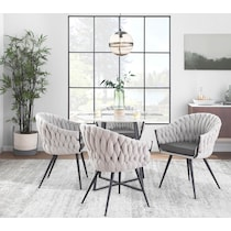kenna gray accent chair