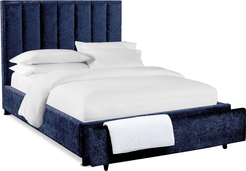 Bedroom Furniture - Kiera Upholstered Channel Storage Bed