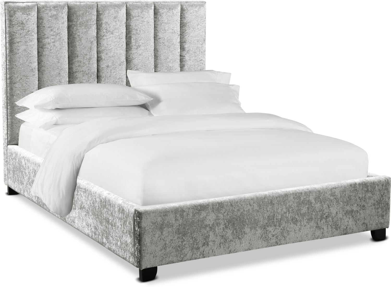 Bedroom Furniture - Kiera Upholstered Channel Bed