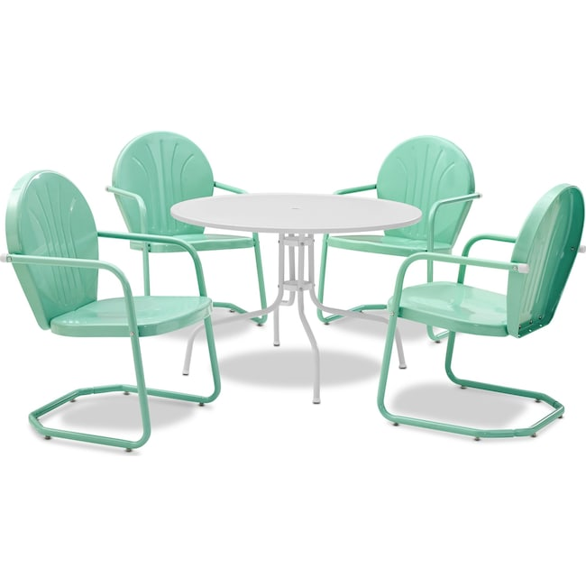 Outdoor Furniture - Kona 5-Piece Outdoor Dining Set