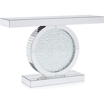 krystal silver console table
