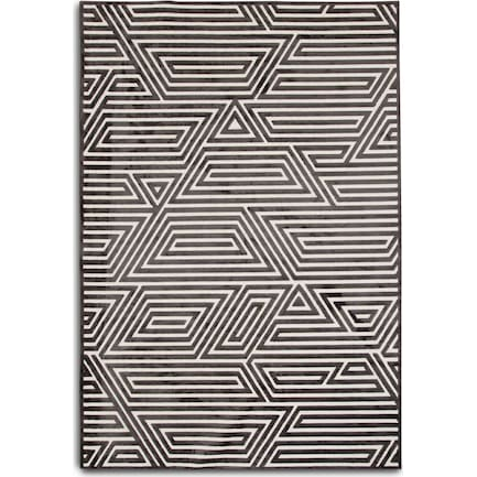 Labyrinth 5' X 8' Area Rug - Charcoal