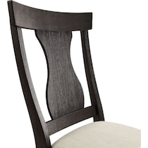 lancaster dark brown dining chair