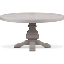 lancaster gray round dining table