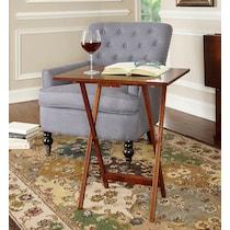langston dark brown tray table