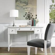 leia white desk