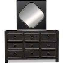lennon black dresser & mirror
