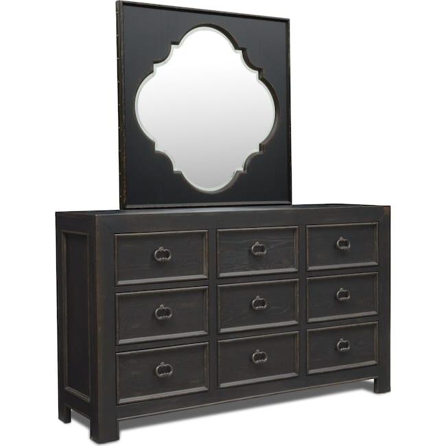 Bedroom Furniture - Lennon Dresser and Mirror