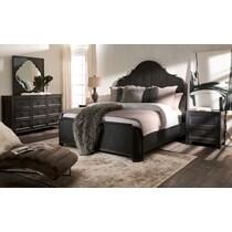 lennon black nightstand