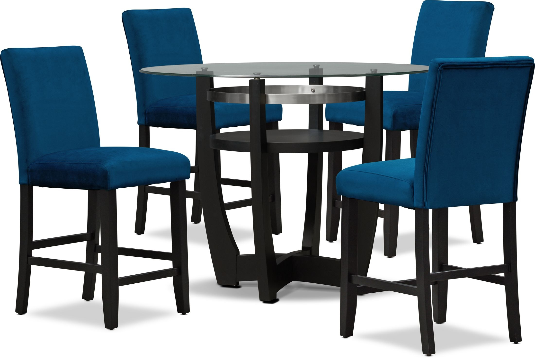 Dining Room Furniture - Lennox Counter-Height Dining Table and 4 Stools