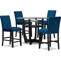 lennox blue  pc counter height dining room