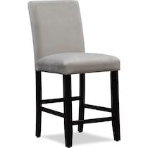 lennox gray counter height stool