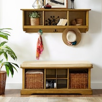 levi light brown  pc entryway system
