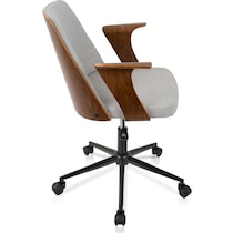lexi gray and walnut office chair