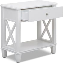 liat white accent table