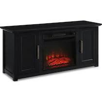 lucas black fireplace tv stand