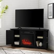 lucas black fireplace tv stand
