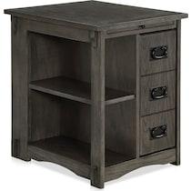 luke gray side table