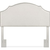 luna white king headboard