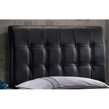 Lusso Queen Upholstered Headboard - Black
