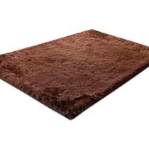 luxe chocolate dark brown area rug ' x '