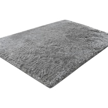 luxe silver silver area rug ' x '