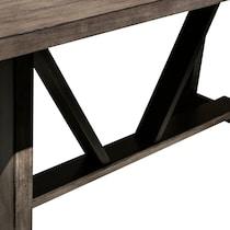 lyla dark brown dining table