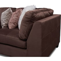 mackenzie brown and blush  pc sectional and ottoman
