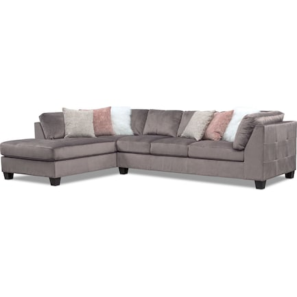 Mackenzie 2-Piece Sectional with Left-Facing Chaise - Gray