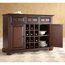 macon dark brown sideboard