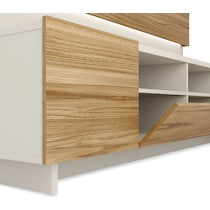 madden cinnamon off white entertainment wall unit