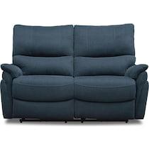 maddox blue power reclining loveseat