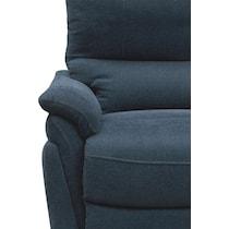 maddox blue power reclining swivel chair