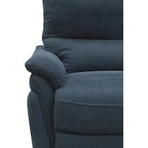 maddox blue reclining loveseat