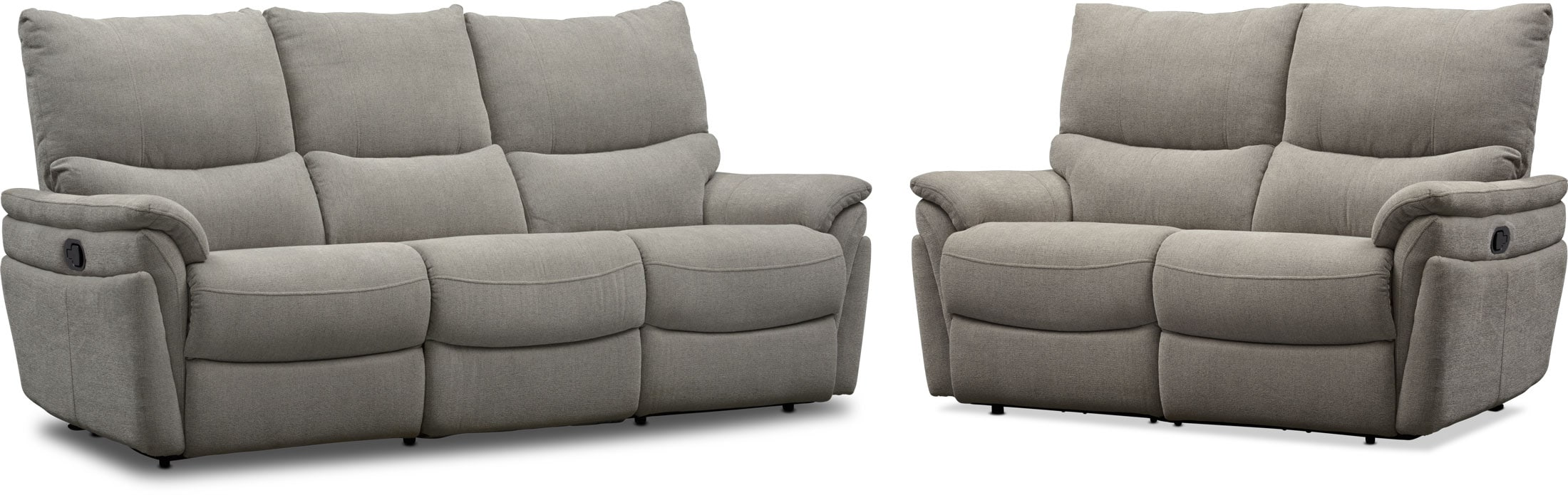 Living Room Furniture - Maddox Manual Reclining Sofa and Loveseat