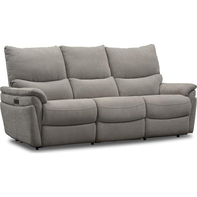 Living Room Furniture - Maddox 2-Piece Triple-Power Reclining Sofa