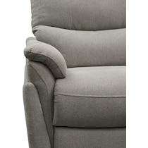 maddox gray  pc power reclining sofa