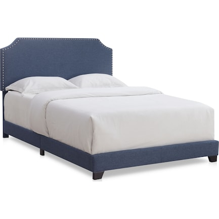 Maeve Queen Upholstered Bed - Blue