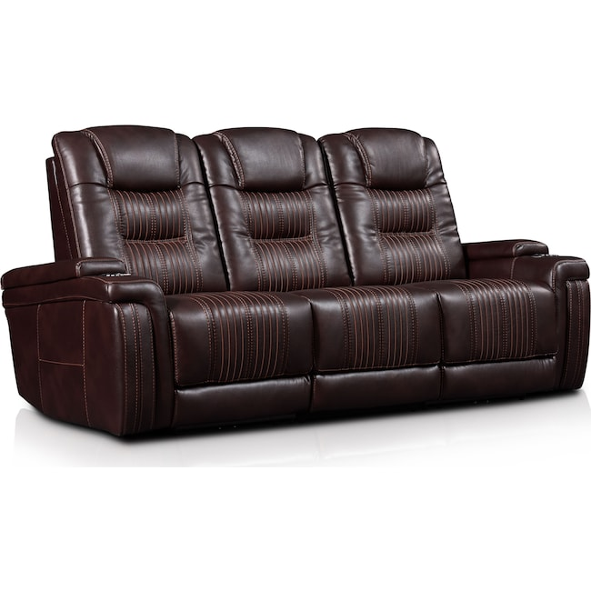 Living Room Furniture - Magnus 3-Piece Triple-Power Reclining Sofa with 2 Reclining Seats