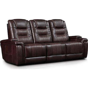 Magnus 3-Piece Triple-Power Reclining Sofa with 3 Reclining Seats - Brown