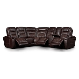 Magnus 6-Piece Triple-Power Reclining Sectional with 3 Reclining Seats