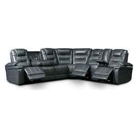 Magnus 7-Piece Triple-Power Reclining Sectional with 3 Reclining Seats