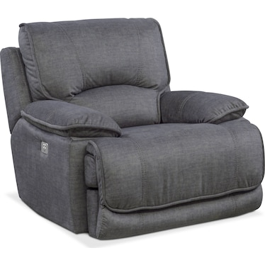 Mario Dual-Power Recliner - Charcoal