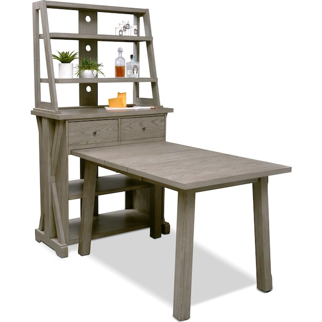 Dining Room Furniture - Maxton Counter-Height Dining Table with Media Hutch
