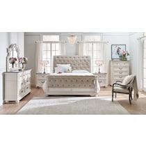 mayfair white  pc king bedroom