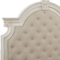 mayfair white  pc queen storage bedroom