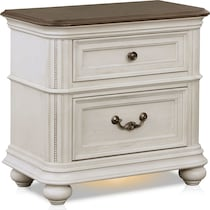 mayfair white nightstand