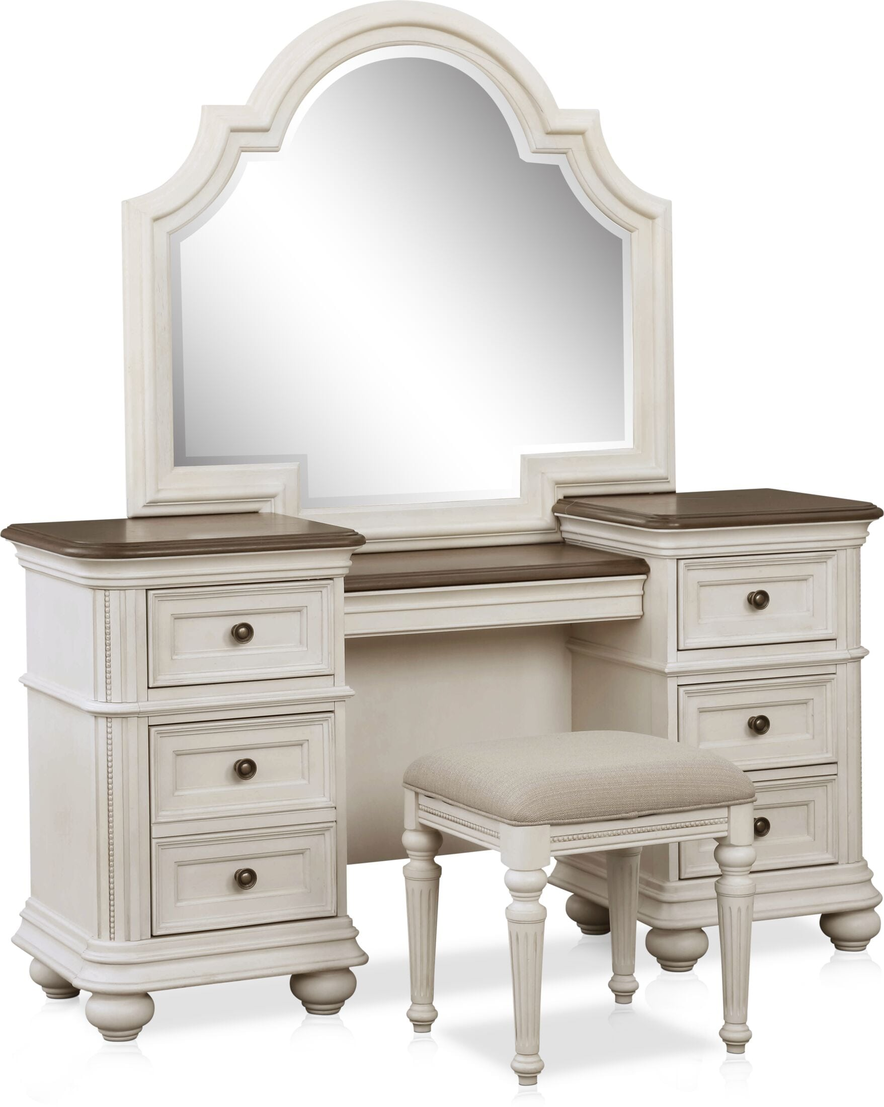 Accent and Occasional Furniture - Mayfair Vanity and Stool