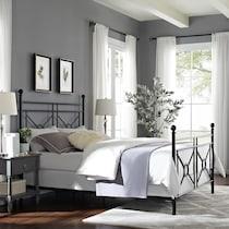 meera black king bed